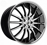 Lexani LX14 8,5x20 5x112 ET32 dia 74,1 black / machined / chrome lip /K литой
